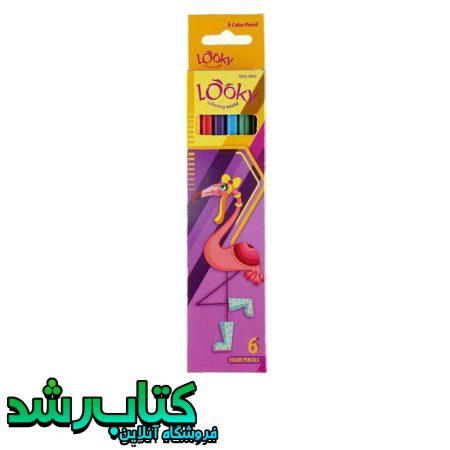 مداد رنگی 6 رنگ لوکی