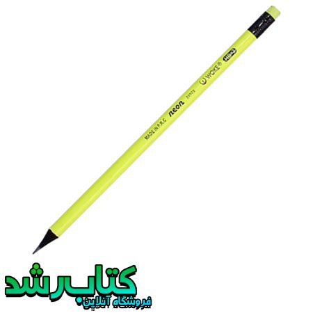 مداد مشکی چوب مشکی پاک کن دار