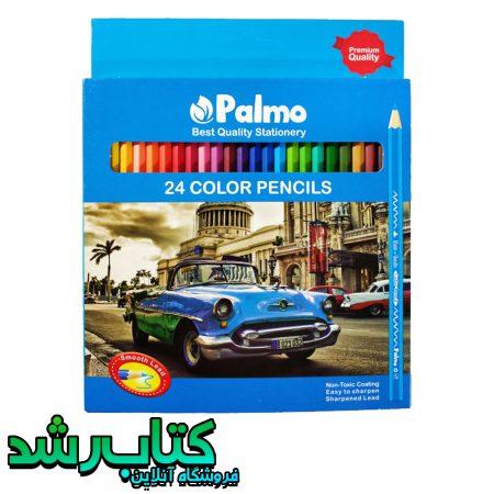 مداد رنگی 24 رنگ پالمو