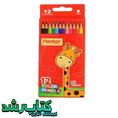 مداد رنگی 12 رنگ پنتر مدل مقوایی